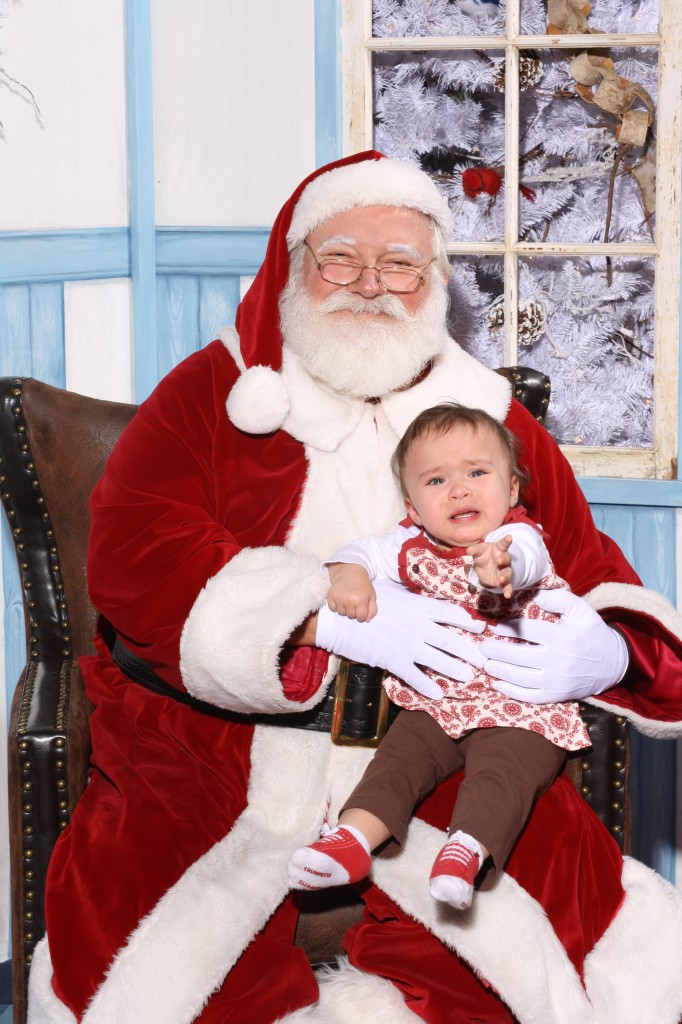 Crying Baby with Santa