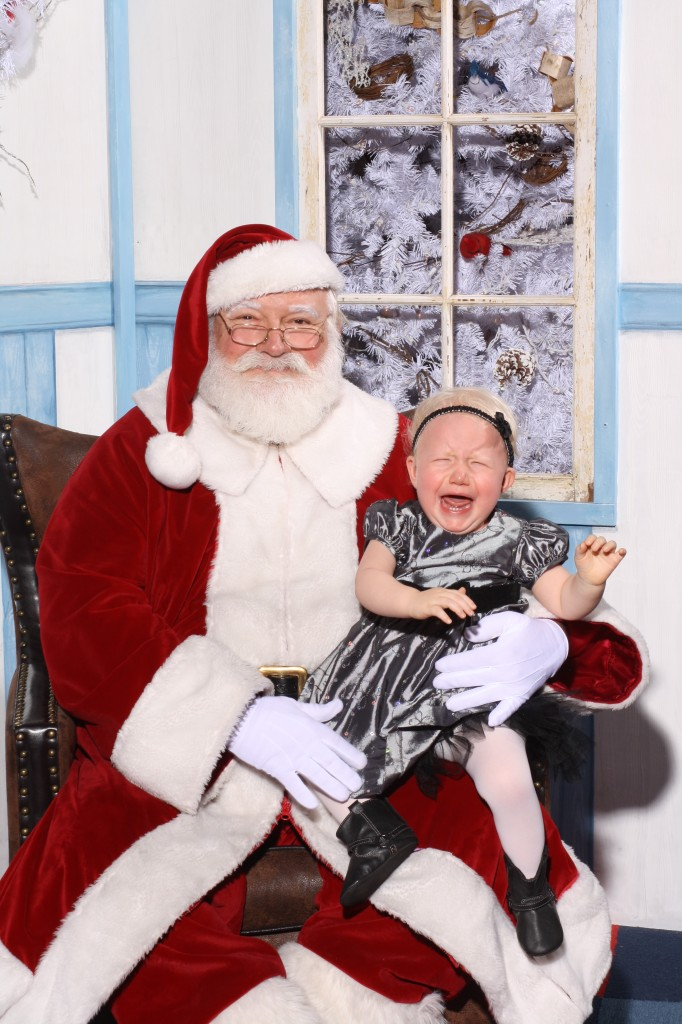 Typical Child with Santa