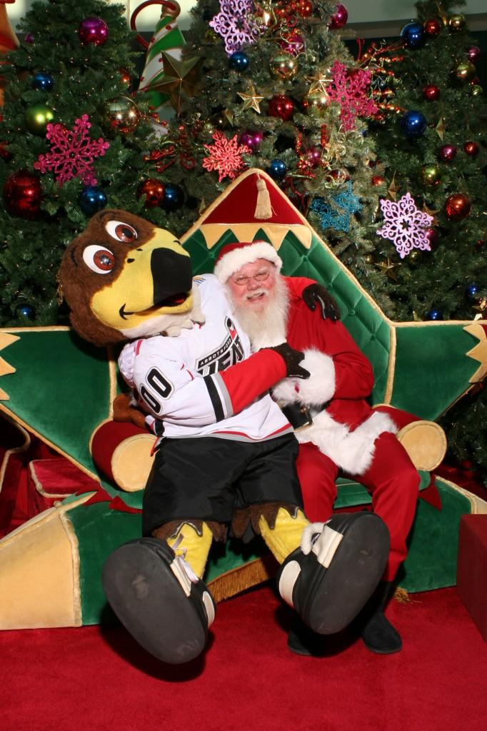 Mascot with Santa