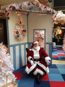 Santa at Pacific Place Seattle
