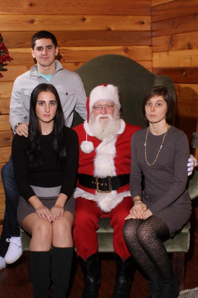 Straight face Santa